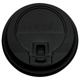 Karat 10-24oz Enclosure Lids – Black (90mm)