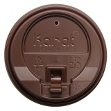 Enclosure Lids - Brown (90mm) Karat 10-24oz  - 1,000 ct