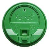 Enclosure Lids - Green (90mm) Karat 10-24oz  - 1,000 ct
