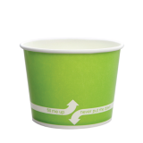 Karat 12oz Hot/Cold Paper Food Containers – Green (100mm)
