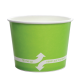 Karat 16oz Hot/Cold Paper Food Containers – Green (112mm)