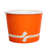 Karat 16oz Hot/Cold Paper Food Containers – Orange (112mm)