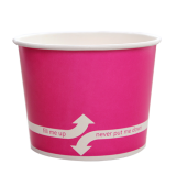 Karat 16oz Hot/Cold Paper Food Containers – Pink (112mm)