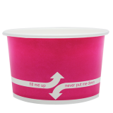 Karat 20oz Hot/Cold Paper Food Containers – Pink (127mm)