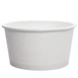 Karat 24oz Hot/Cold Paper Food Containers – White (142mm)
