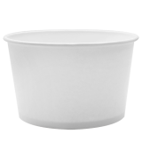 Karat 28oz Hot/Cold Paper Food Containers – White (142mm)