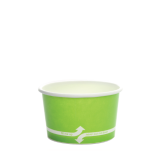 Karat 4oz Hot/Cold Paper Food Containers – Green (76mm)