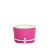 Karat 4oz Hot/Cold Paper Food Containers – Pink (76mm)
