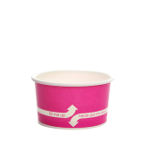 Karat 5oz Hot/Cold Paper Food Containers – Pink (87mm)