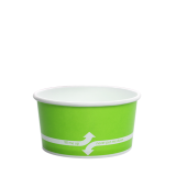Karat 6oz Hot/Cold Paper Food Containers – Green (96mm)