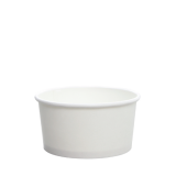 Karat 6oz Hot/Cold Paper Food Containers – White (96mm)