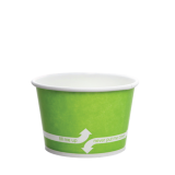Karat 8oz Hot/Cold Paper Food Containers – Green (95mm)