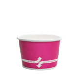 Karat 8oz Hot/Cold Paper Food Containers – Pink (95mm)
