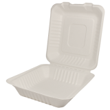 Karat 8inx8in Compostable Bagasse Hinged Containers