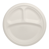 Karat Earth Eco-friendly 9″ Bagasse Round Plates – 3 Compartments Case