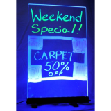 Writable Illuminated LED Sign – Clear (12″ x 20″)