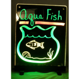 Writable Illuminated LED Sign – Black (12″x 16″)