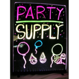 Writable Illuminated LED Sign – Black (24″ x 32″)