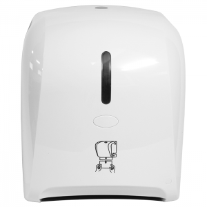 White Hand Roll Paper Towel Dispenser