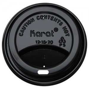 Karat 10-24oz Sipper Dome Lids – Black (90mm)