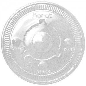 Karat 115mm PET Flat Lids