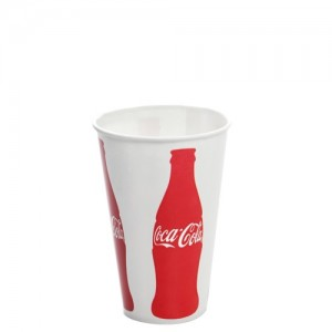 12oz Karat Paper Cold Cups - Coca Cola 84mm - 1,000 ct