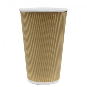 Karat 20oz Ripple Paper Hot Cups – Kraft (90mm)