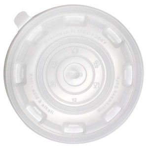 Karat 36oz PP Flat Lid for Injection Molding Bowl
