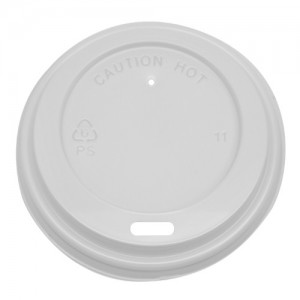 Karat 8oz Sipper Dome Lids – White (80mm)