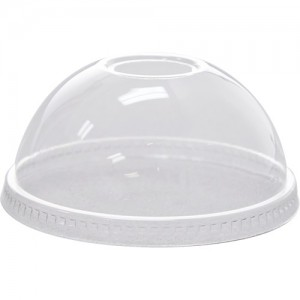 Karat 98mm PET Dome Lids - Regular Hole