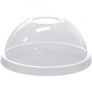 Karat 98mm PET Dome Lids-No Hole