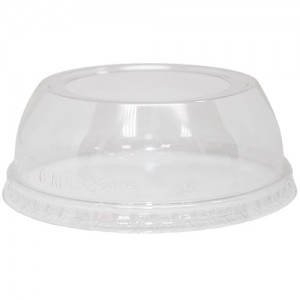 Karat 98mm PET Dome Lids-Wide Opening
