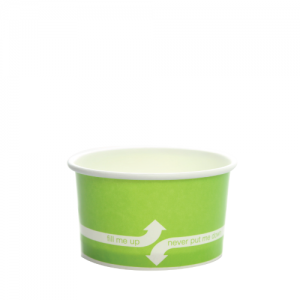 Karat 5oz Hot/Cold Paper Food Containers – Green (87mm)